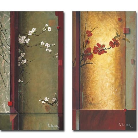 Blossom Tapestry I & II by Don Li-Leger 2-piece Gallery Wrapped Canvas Giclee Art Set