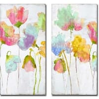 Colorful Friends I & II by Vanessa Austin 2-piece Gallery Wrapped Canvas Giclee Art Set