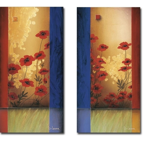 Painters Garden I & II by Don Li-Leger 2-piece Gallery Wrapped Canvas Giclee Art Set