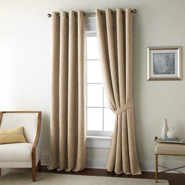 French Impression Golden Rose Heavy Jacquard 4 pc Curtain Set. Opens flyout.