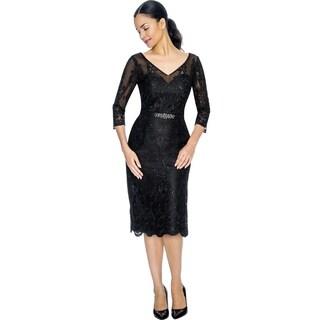 Annabelle Women's Black Cocktail Party Dress