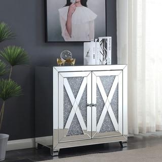 Furniture of America Huck Glam Sliver 2-door Hallway Cabinet