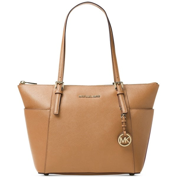9da1c4e92f44 Shop MICHAEL Michael Kors Jet Set East/West Gold-Tone Tote Acorn - On Sale  - Free Shipping Today - Overstock - 23444438
