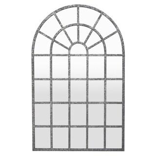 Three Hands Grey Metal Wall Mirror