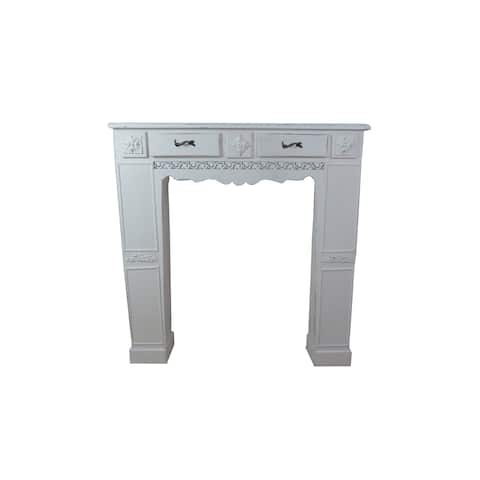 Jeco White Wood Fireplace Mantel