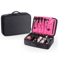 KIOTA Makeup Case Cosmetic Travel Storage Organizer Bag with Dividers