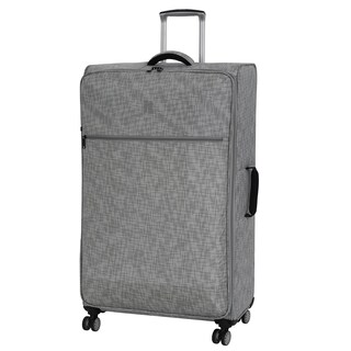 it luggage Stitched Squares 34.4-inch 8 Wheel Lightweight Spinner Suitcase