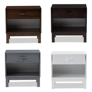 Urban Designs Reanne 1-drawer Wood Nightstand With Shelf
