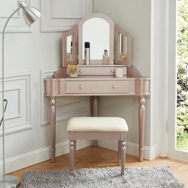 Gracewood Hollow Kresev 3-piece Corner Vanity Set