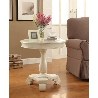 Porch & Den Viola Hand-painted Round Accent Table