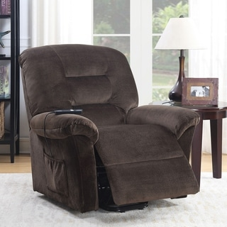 Furniture of America Cole Traditional Brown Chenille Power Recliner