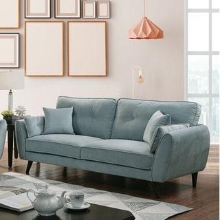 Carson Carrington Roundstone Modern Light Teal Sofa