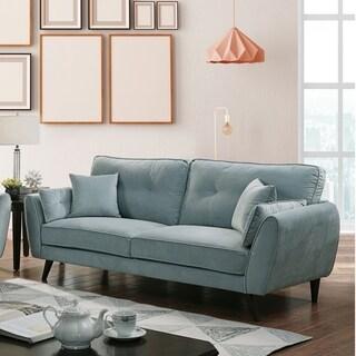 Furniture of America Ahn Mid-century Modern Light Teal Sofa