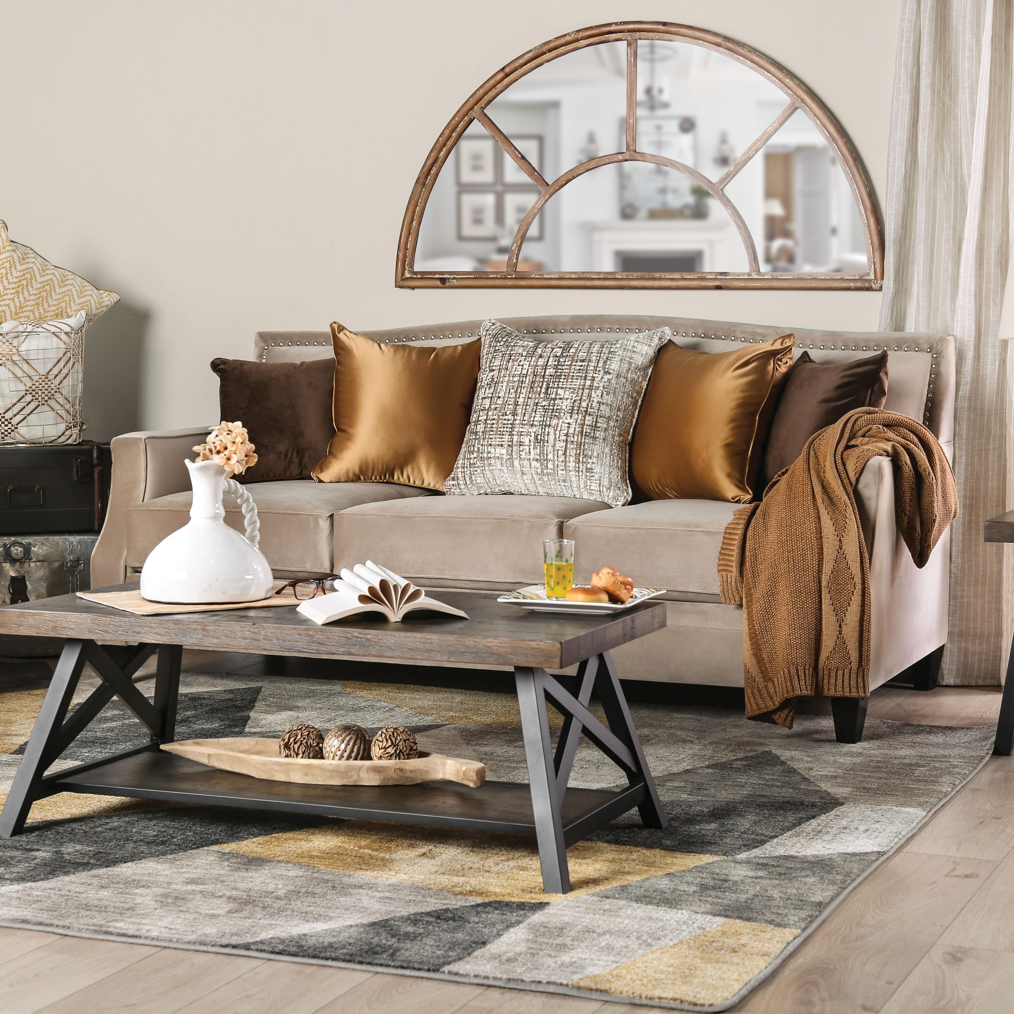 Fine Furniture Of America Frederick Tan Velvet Sofa Beatyapartments Chair Design Images Beatyapartmentscom