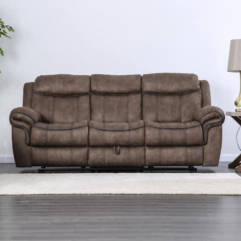 Furniture of America Heathcliff Leather Reclining Sofa