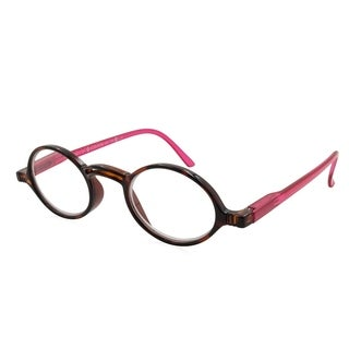 Gabriel + Simone Rond Tortoise and Pink Women Reading Glasses