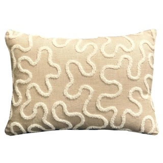 Plutus Chandra Taal Beige Geometric Luxury Throw Pillow