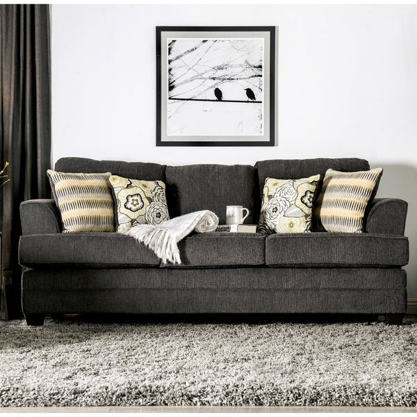 Shop Copper Grove Pavelbanya Adeline Grey Chenille Sofa - Free ...