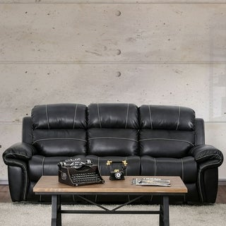 Furniture of America Monte Carlo Breathable Leather Reclining Sofa