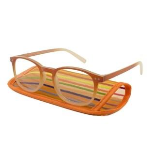 UrbanSpecs Readers Sheer Illusion Orange Women Reading Glasses