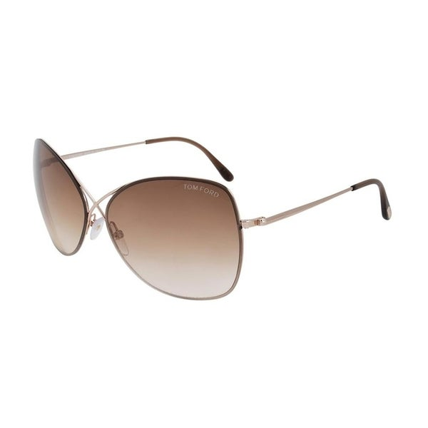 8ffe6a3cccc Shop Tom Ford Women s Colette Rose Gold Sunglasses - Free Shipping Today -  Overstock - 23447702