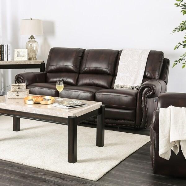 American Free Furniture Orlando: Shop Furniture Of America Ida Leather Reclining Sofa