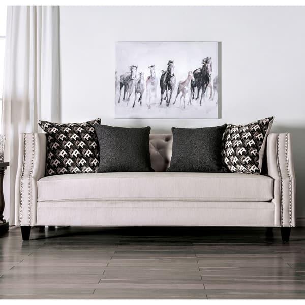 Fabulous Shop Michaela Transitional Beige Tuxedo Sofa By Foa On Beatyapartments Chair Design Images Beatyapartmentscom