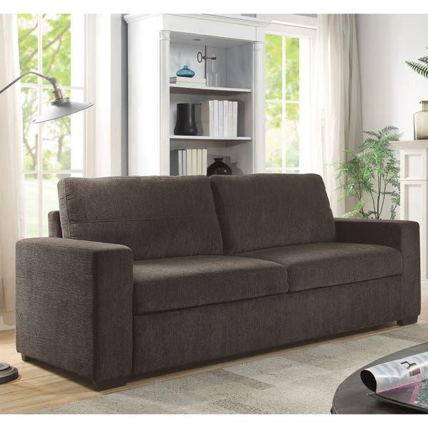 Fabulous Shop Copper Grove Kopriv Microfiber Brown Chenille Sofa Bed Short Links Chair Design For Home Short Linksinfo