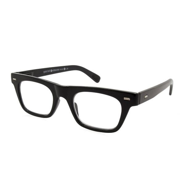acfdcce024 Shop Gabriel + Simone Lyon Black Unisex Reading Glasses - On Sale ...