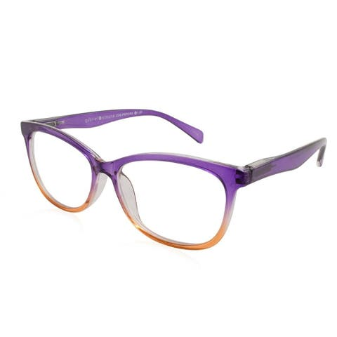 Gabriel + Simone Zoe Purple Orange Fade Women Reading Glasses