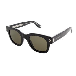 Givenchy Women's Black Plastic with Brown Lenses Sunglasses