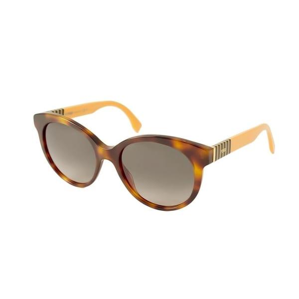 e68e7b6359 Shop Fendi Women Brown Grey Plastic Sunglasses - Free Shipping Today -  Overstock - 23447905
