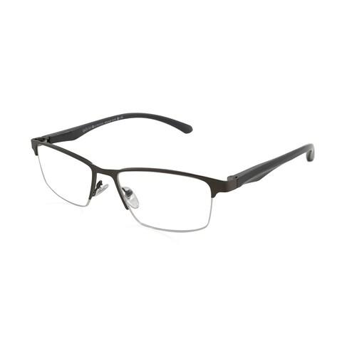 Gabriel + Simone Bruno Gunmetal Men Reading Glasses - Silver