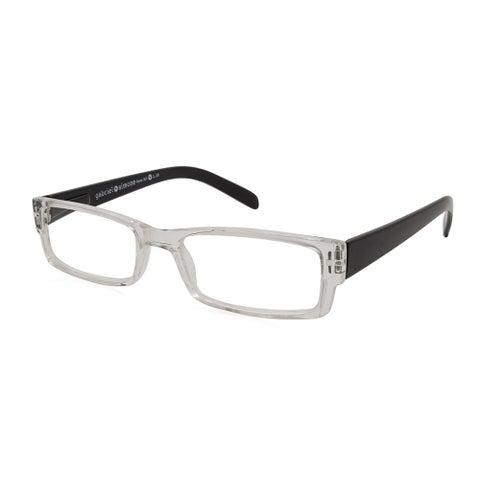 Gabriel + Simone Renne Black Unisex Reading Glasses - Clear