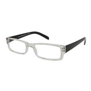 Gabriel + Simone Renne Black Unisex Reading Glasses - Clear