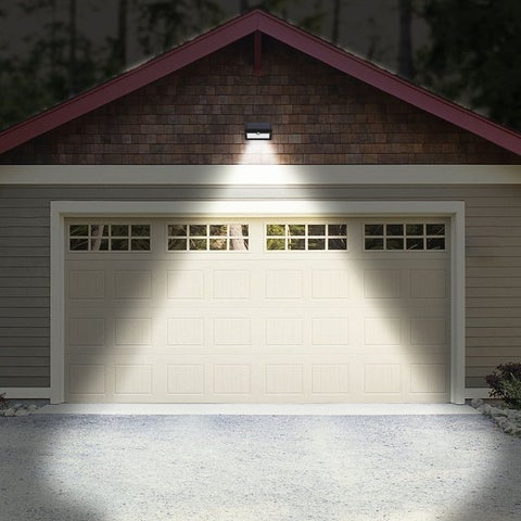 25 LED Weatherproof Solar Powered Outdoor Motion Sensor Wall Light Night Lamp - Black
