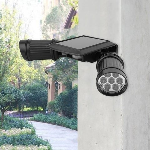 14 LED Spotlight Solar PIR Activated Security Light Garden Security Lamp - Black