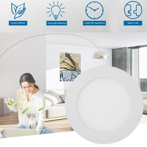 10 Pcs Round 9w LED Recessed Ceiling Panel Light Down Light Bright Bulb Lamp