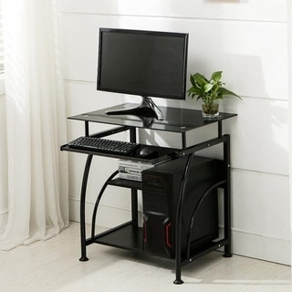 Porch & Den Brill Office Writing Table PC Computer Desk w/ Keyboard