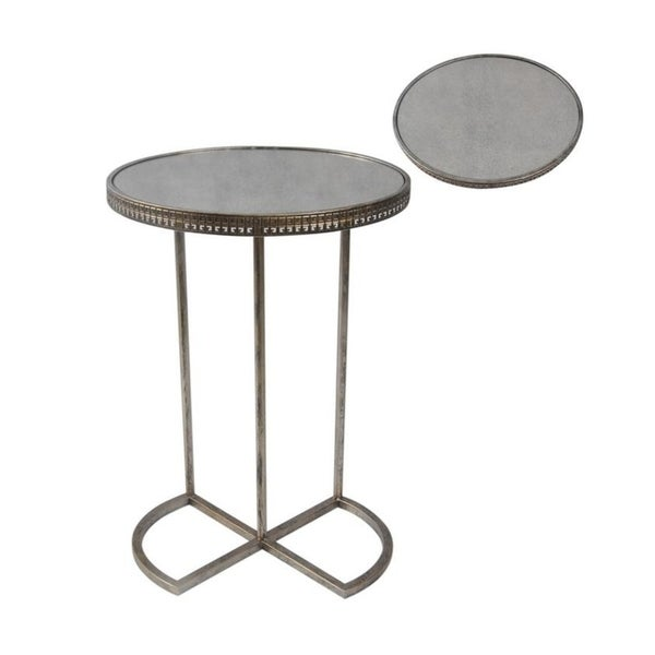 C Shape Table with Infinity Base (Set of 2)