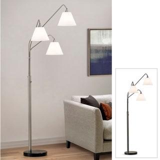 Shop Midtown 3 Light Dark Bronze Arch Floor Lamp With Mica