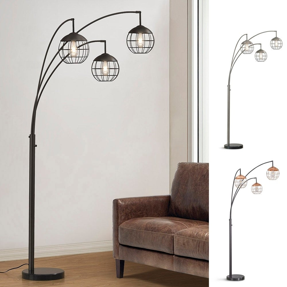 Metro 3 Light Wire Shades Led Dimmable