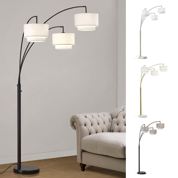 Broadway 3-light 4-way Switch Arch Floor Lamp. Opens flyout.