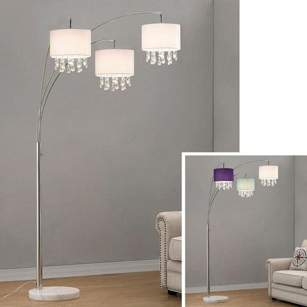 Silver Orchid Ferrari 3-light Crystal Pendants Arch Floor Lamp. Opens flyout.