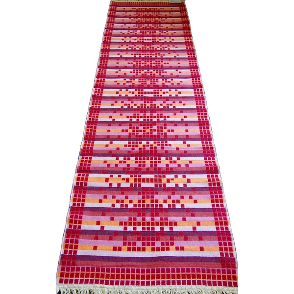 Double Sided Runner Rugs Red - 2'8 x 10'