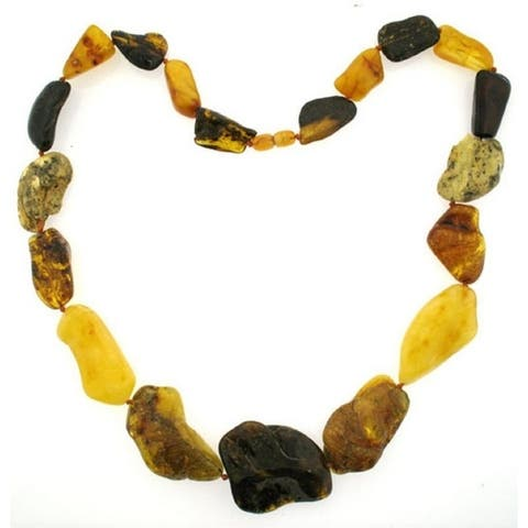 Pearl Lustre Natural Shape and Color Baltic Amber Necklace