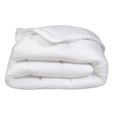 Premium Soft Oversized Lightweight White All Season Down Alternative Comforter!