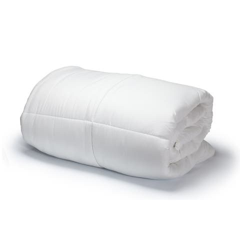 Luxury Soft Oversized Lightweight White Down Alternative Comforter All Season!