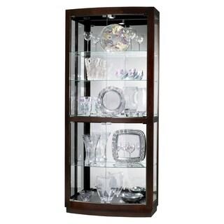 Howard Miller Bradington Brown Wood/Glass Tall 5-shelf Living Room Curio Cabinet