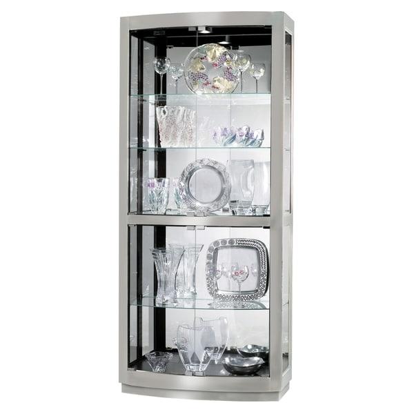 Howard Miller Bradington Ii Contemporary Metal And Gl 5 Shelf Living Room Curio Cabinet Free Shipping Today 23449307